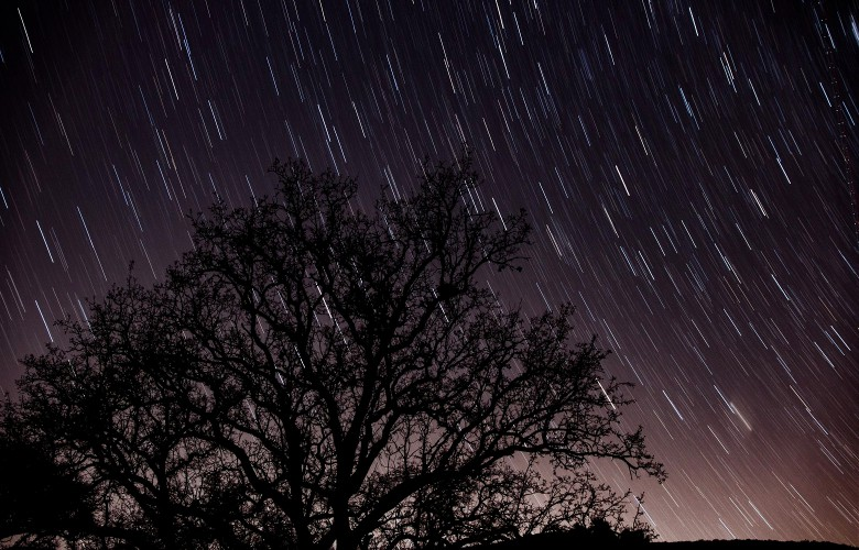 astro photography of star trails