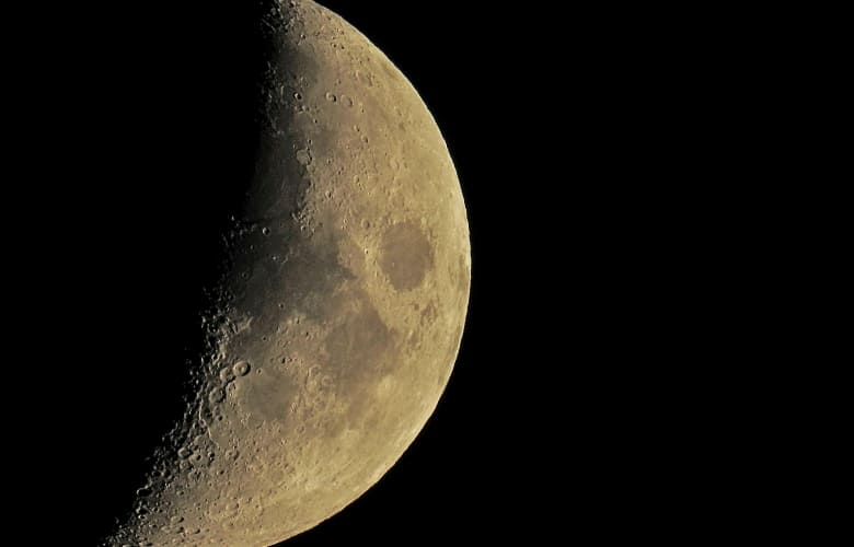 closeup of the moon