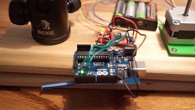 motorized star tracker powered by arduino board