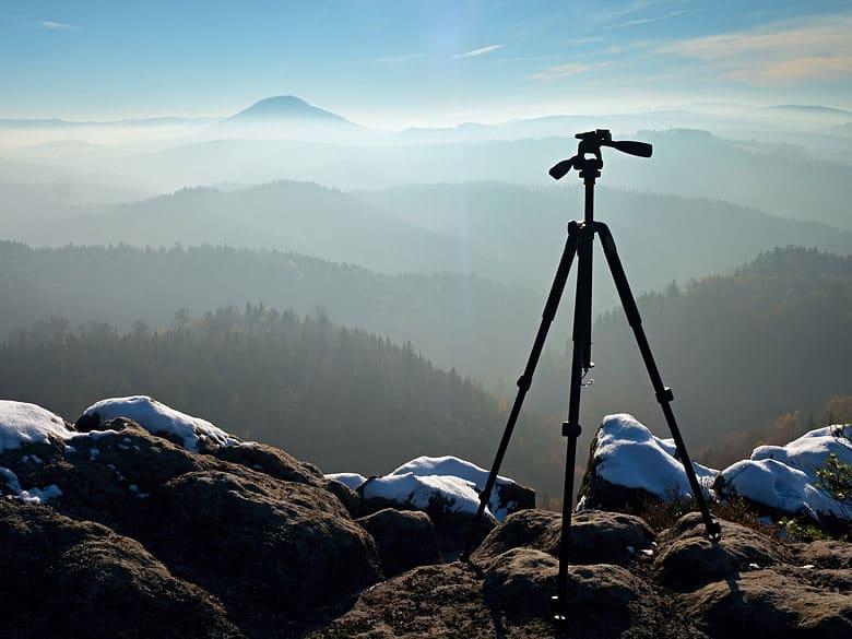 best camera tripod for setting up a camera landscape shot