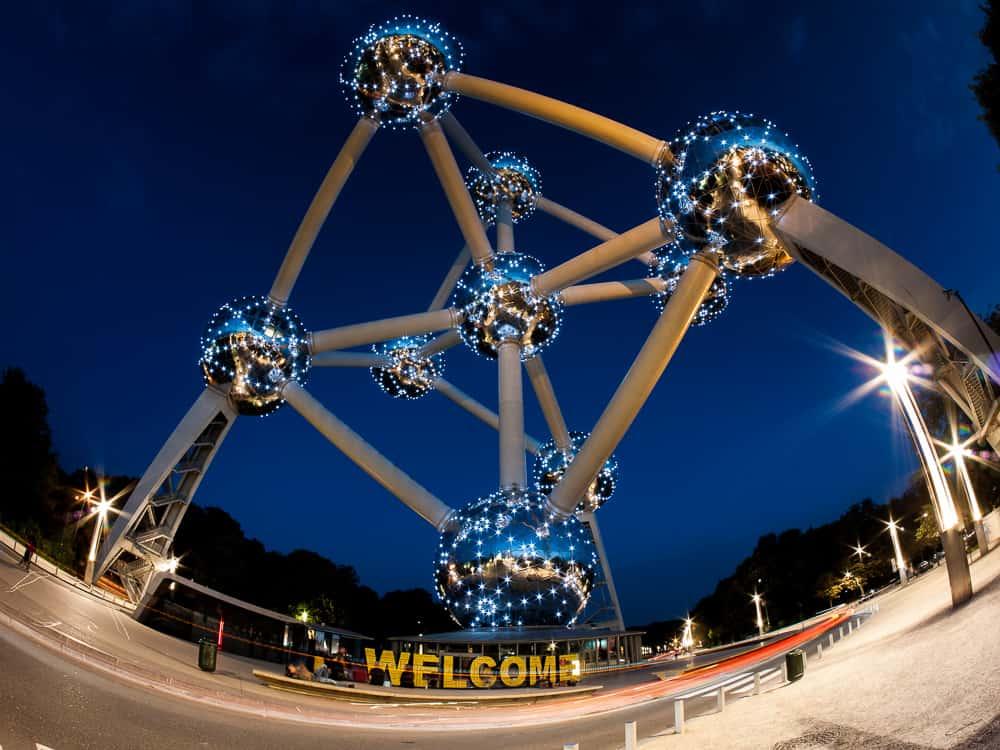 Atomium at night
