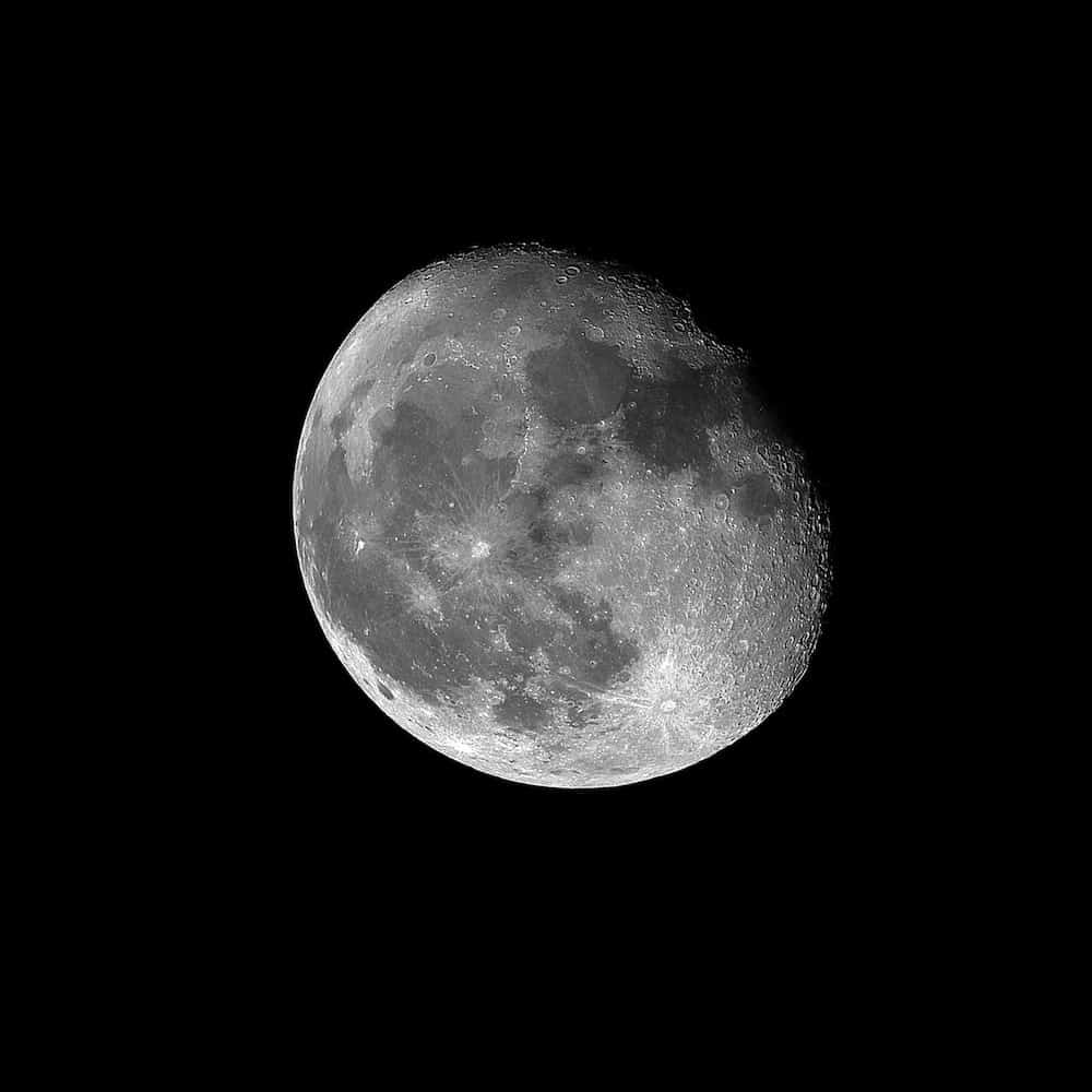 the moon photographed