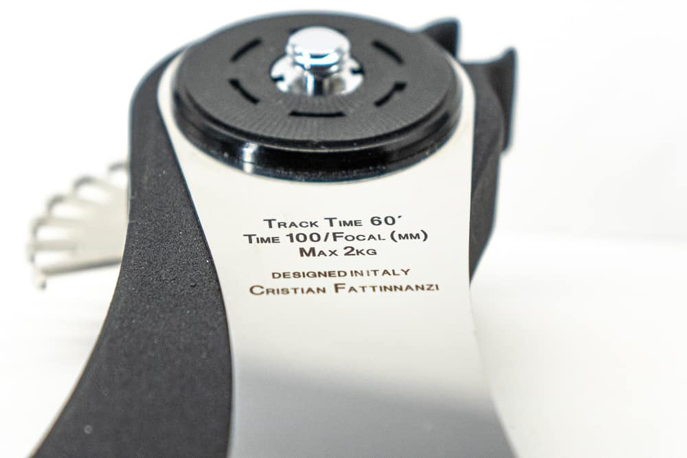 time exposure formula is engraved on the Minitrack arm
