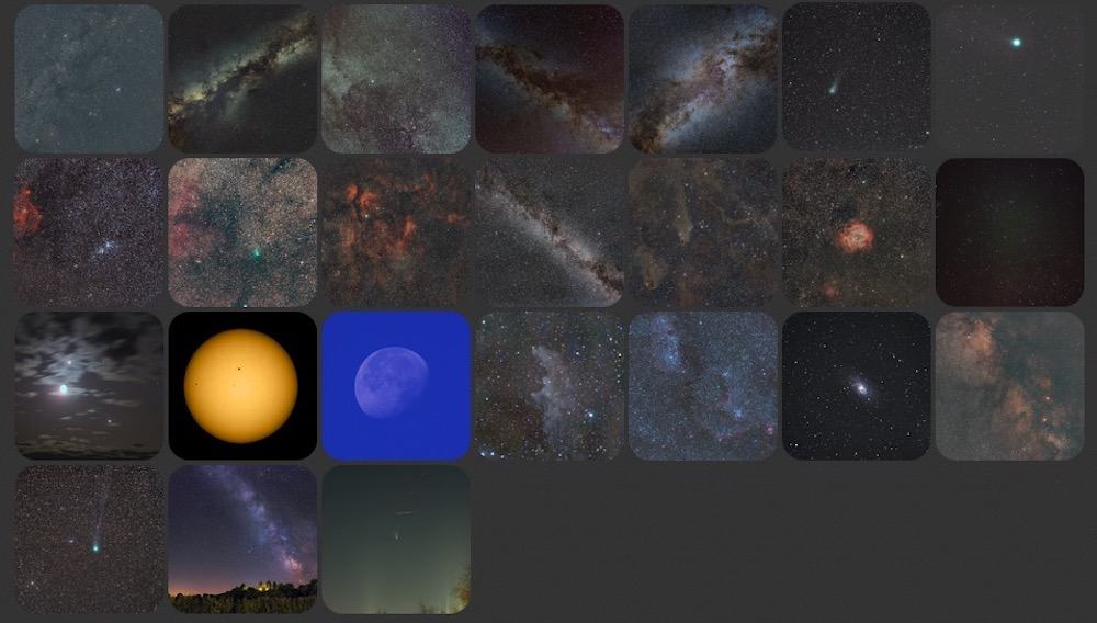 Samples of images taken with the SkyTracker PRO