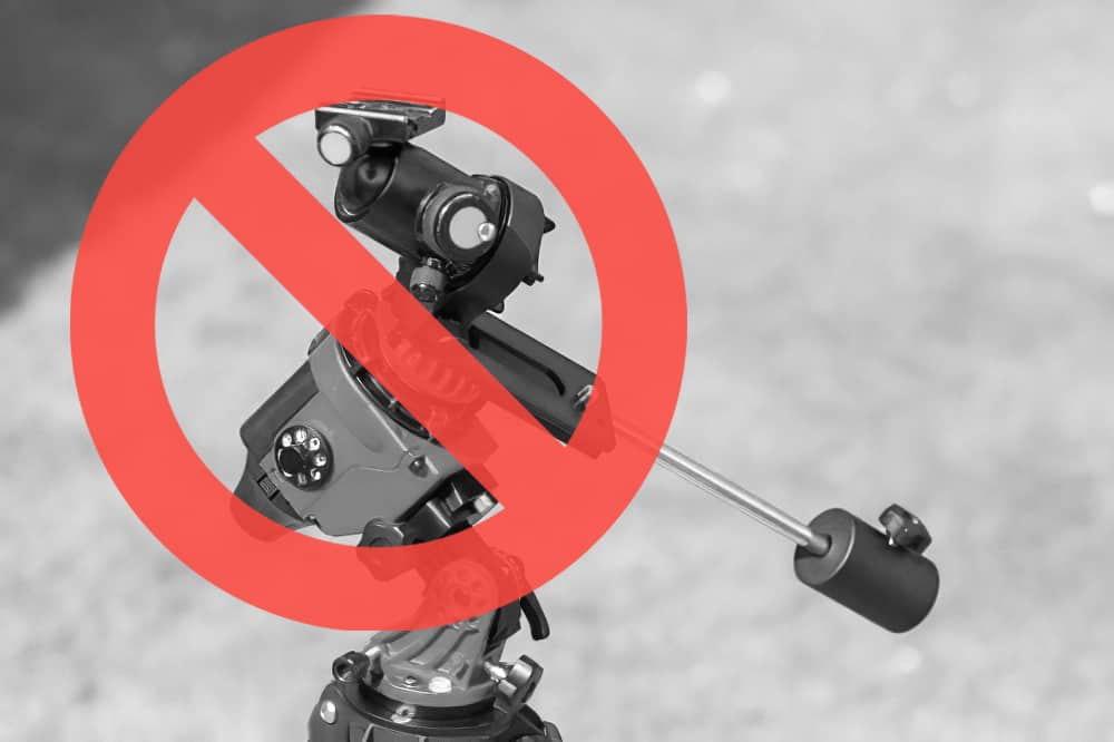 common mistakes beginners make is using a ball head