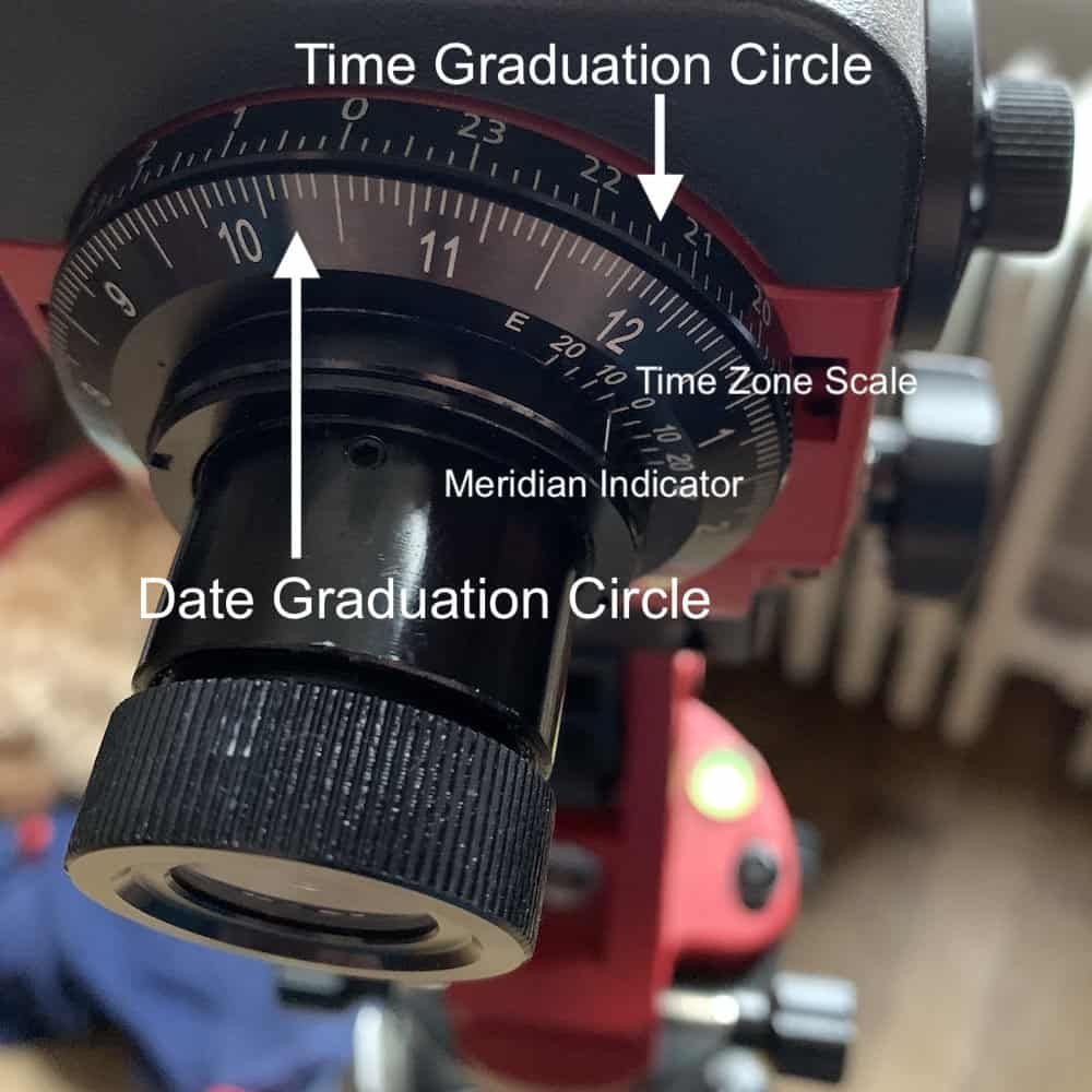 different Graduation Circles and Scales on the star adventurer pro