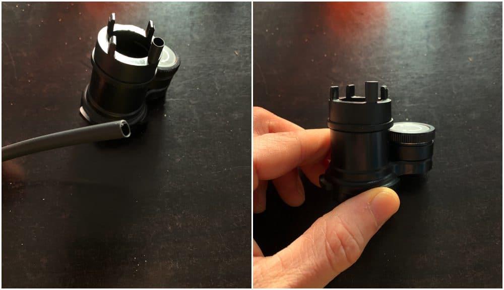 heat shrinking tube used on the polar scope illuminator