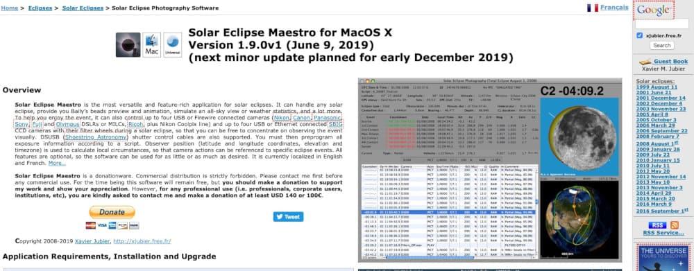 Solar Eclipse Maestro's homepage
