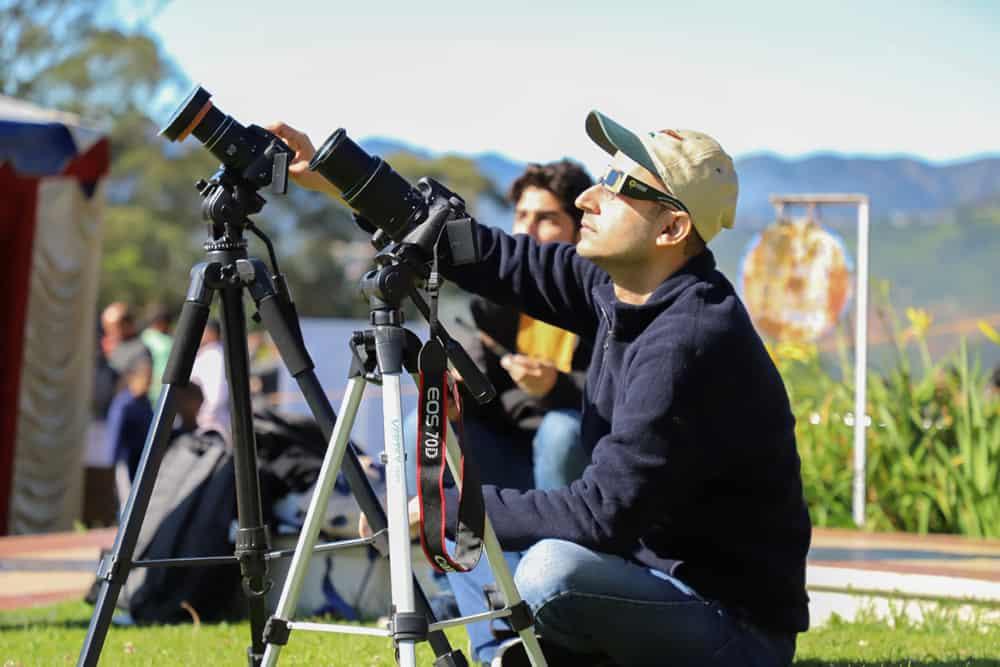 camera setup for solar eclipse